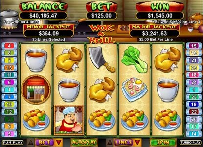 Cool Cat featuring the Video Slots Wok & Roll with a maximum payout of $250,000