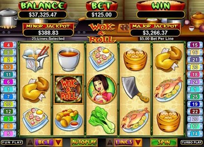 Play slots at Pure Vegas: Pure Vegas featuring the Video Slots Wok & Roll with a maximum payout of $250,000