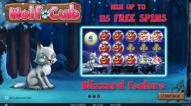 21 Dukes featuring the Video Slots Wolf Cub with a maximum payout of $4,000,000