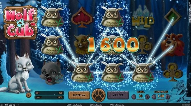 Wintingo featuring the Video Slots Wolf Cub with a maximum payout of $4,000,000