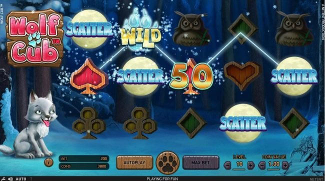 Yeti Casino featuring the Video Slots Wolf Cub with a maximum payout of $4,000,000