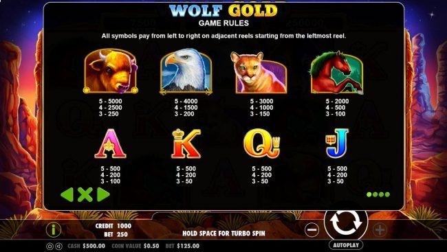 Rich Casino featuring the Video Slots Wolf Gold with a maximum payout of $30,000