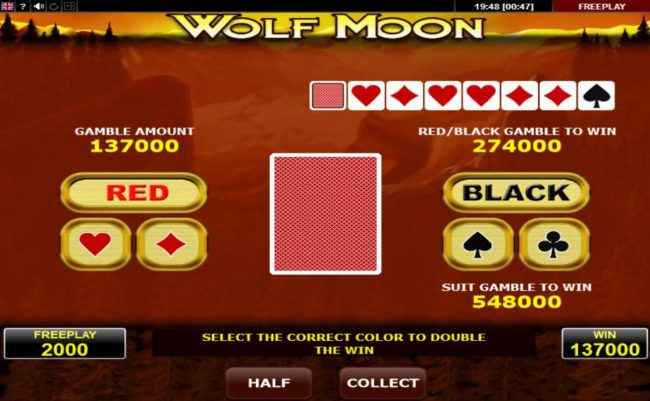 Wolf Moon :: Gamble Feature Game Board