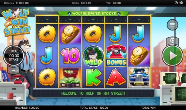 Cheeky Riches featuring the Video Slots Wolf on Wall Street with a maximum payout of $250,000