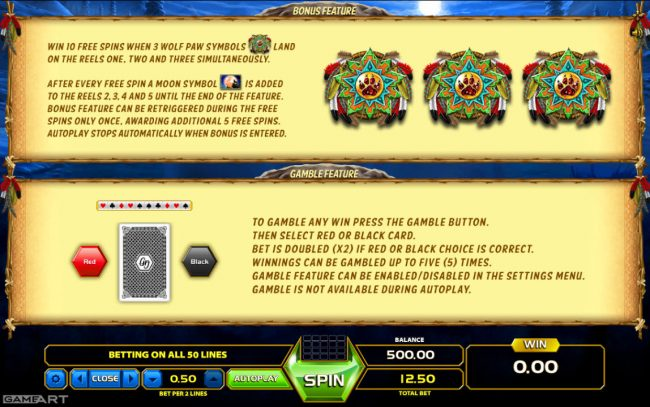 Play slots at Yoyo: Yoyo featuring the Video Slots Wolf Quest with a maximum payout of $250