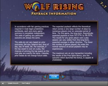 Fika Casino featuring the Video Slots Wolf Rising with a maximum payout of $250,000
