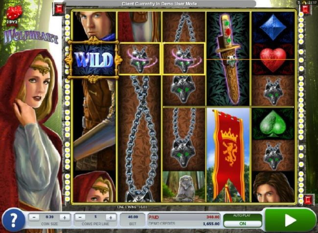 Next Casino featuring the Video Slots Wolfheart with a maximum payout of $16,000