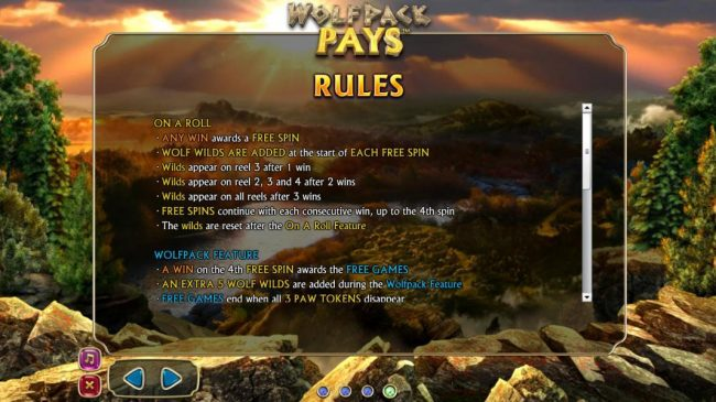 Wolfpack Pays :: On A Roll and Wolfpack Feature Game Rules