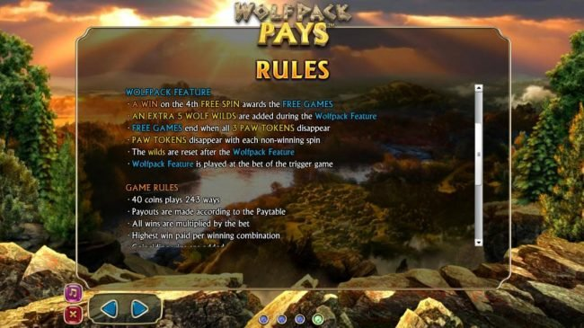 Wolfpack Pays :: Wolfpack Feature and Game Feature Game Rules
