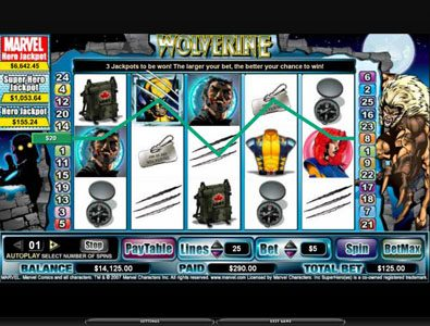 Vera&John featuring the video-Slots Wolverine with a maximum payout of 3,000x