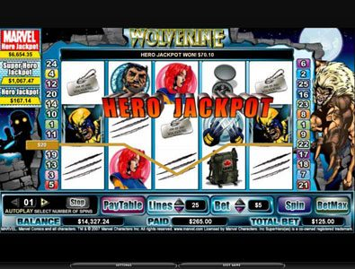 Bonanza featuring the video-Slots Wolverine with a maximum payout of 3,000x
