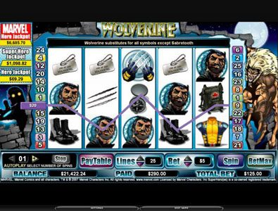 Royal House featuring the video-Slots Wolverine with a maximum payout of 3,000x