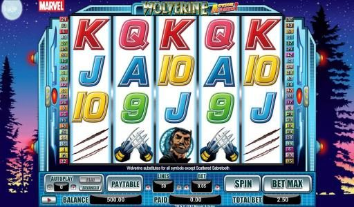Play slots at Royal House: Royal House featuring the Video Slots Wolverine Action Stacks with a maximum payout of 2000x