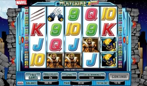 Spintropolis featuring the Video Slots Wolverine Action Stacks with a maximum payout of 2000x