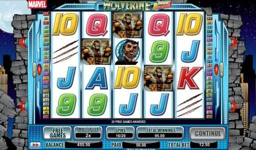 Reel Vegas featuring the Video Slots Wolverine Action Stacks with a maximum payout of 2000x