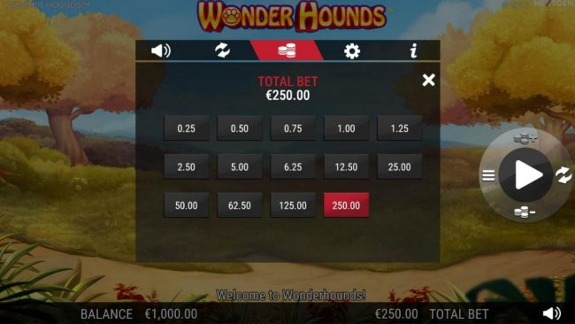 Conquer featuring the Video Slots Wonder Hounds with a maximum payout of $100,000
