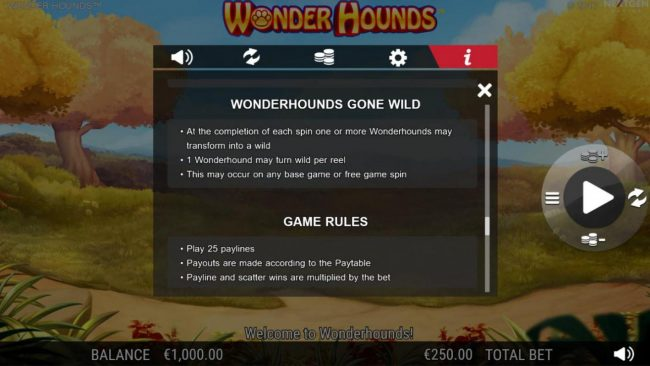 Play slots at Conquer: Conquer featuring the Video Slots Wonder Hounds with a maximum payout of $100,000
