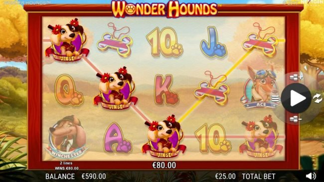 Play slots at Enzo Casino: Enzo Casino featuring the Video Slots Wonder Hounds with a maximum payout of $100,000