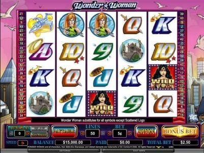 Leo Vegas featuring the Video Slots Wonder Woman with a maximum payout of $200,000
