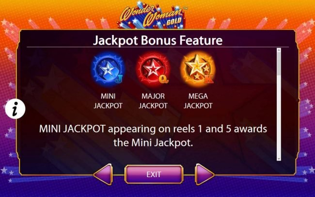 Jackpot Bonus Feature Rules