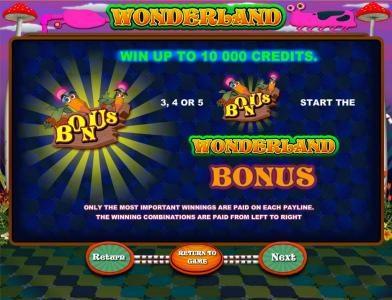 Wonderland :: bonus feature rules