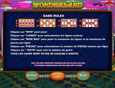 Wonderland :: game rules
