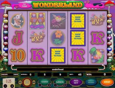 Wonderland :: click here to play feature triggered