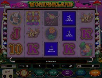 Wonderland :: 3 free games awarded