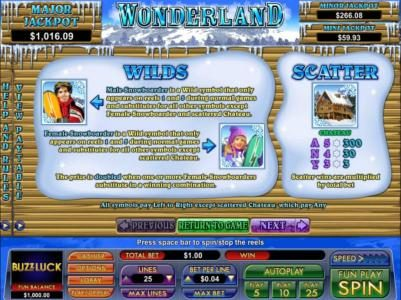 Play slots at BuzzLuck: BuzzLuck featuring the Video Slots Wonderland with a maximum payout of $7,500