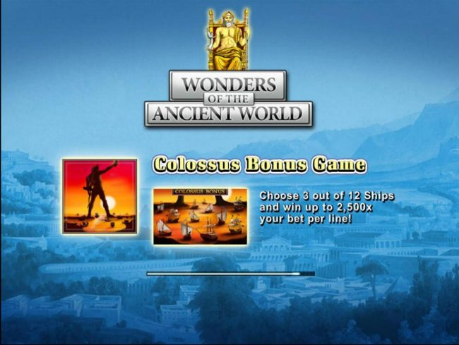 Superior featuring the Video Slots Wonders of the Ancient World with a maximum payout of $500,000