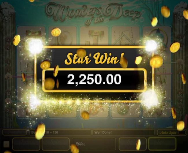 A 2,250.00 big win awarded