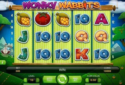 Play slots at Royal House: Royal House featuring the Video Slots Wonky Wabbits with a maximum payout of 390,000 coins
