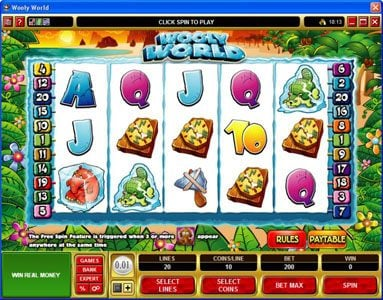 Play slots at Mummys Gold: Mummys Gold featuring the Video Slots Wooly World with a maximum payout of $125,000
