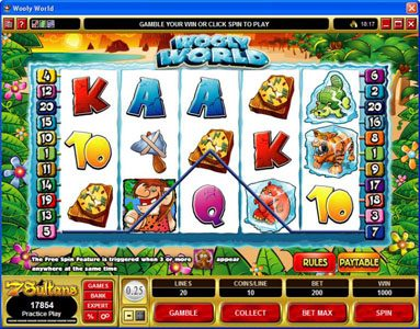 Casino Classic featuring the Video Slots Wooly World with a maximum payout of $125,000