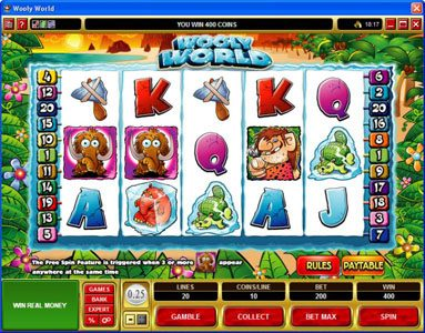 Players Palace featuring the Video Slots Wooly World with a maximum payout of $125,000