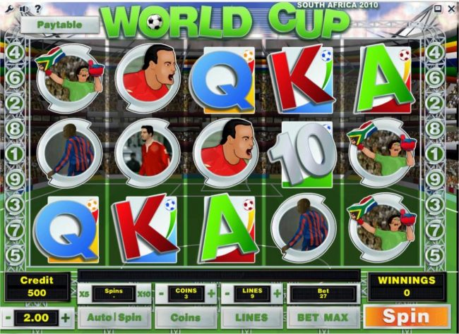 Wicked Bet featuring the Video Slots World Cup with a maximum payout of $90,000
