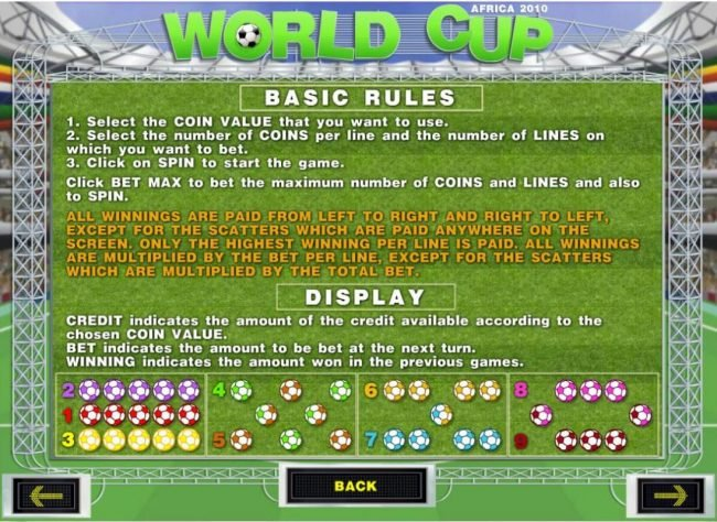 Joe Fortune featuring the Video Slots World Cup with a maximum payout of $90,000