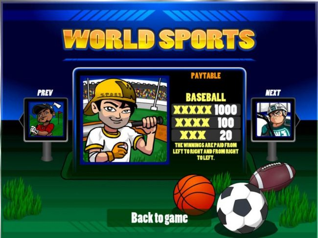 Play slots at Winstar: Winstar featuring the Video Slots World Sports with a maximum payout of $20,000