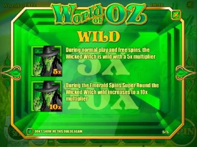 Euro Bets featuring the Video Slots World of OZ with a maximum payout of $1,875