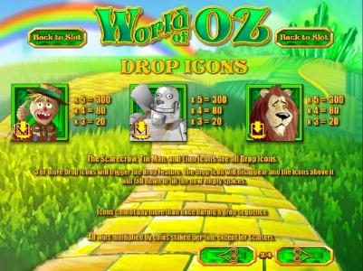 Winbig21 featuring the Video Slots World of OZ with a maximum payout of $1,875