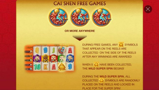 Noble featuring the Video Slots Wu Lu Cai Shen with a maximum payout of Jackpot