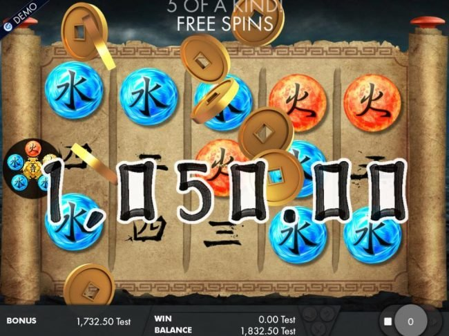 Jackpot City featuring the Video Slots Wu Xing with a maximum payout of $4,000