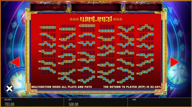 Chomp featuring the Video Slots Wu Xing with a maximum payout of $10,000