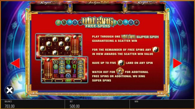 Moon Games featuring the Video Slots Wu Xing with a maximum payout of $10,000