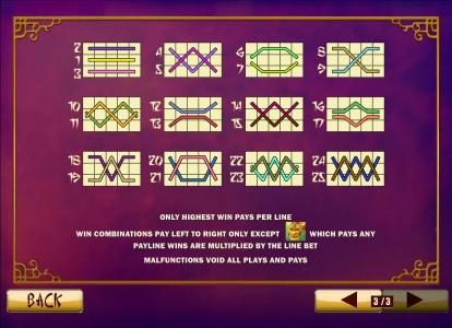 LesA Casino featuring the Video Slots Wu Long with a maximum payout of $250,000
