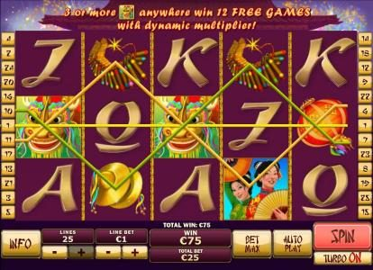 Come On featuring the Video Slots Wu Long with a maximum payout of $250,000