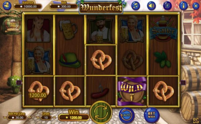 Kingbit Casino featuring the Video Slots Wunderfest with a maximum payout of $300,000