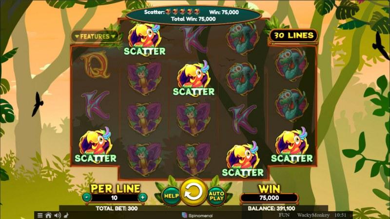 Wacky Monkey :: Scatter Win