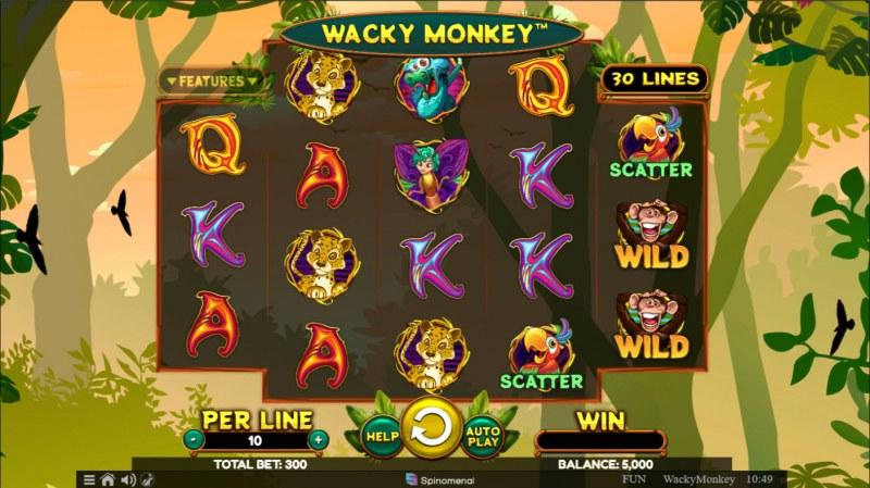 Wacky Monkey :: Base Game Screen