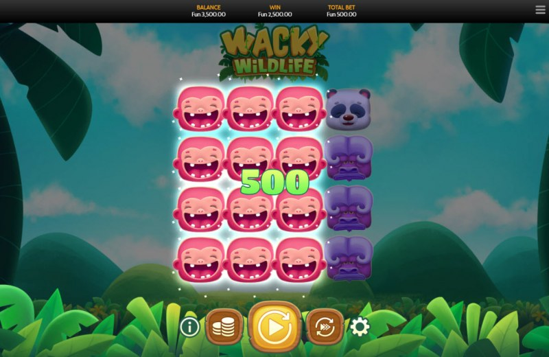 Wacky Wildlife :: Multiple winning combinations leads to a big win
